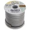 Flat Leather 5X2mm (10m Spool) Metallic Silver